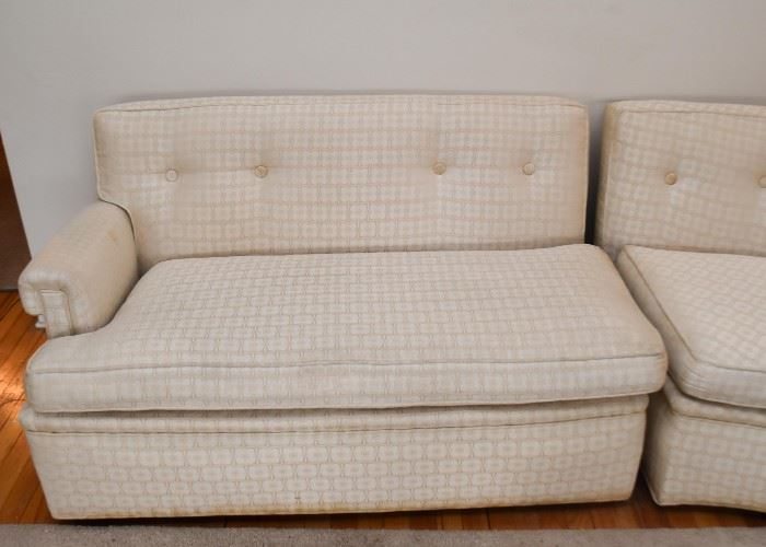 Vintage Custom Curved Sectional Sofa by Barnitz Studios, Evanston (2 pieces)