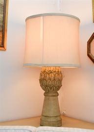 Vintage Artichoke Table Lamp