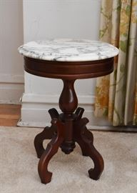 Small Occasional Table with Marble Top