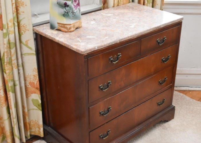 Antique / Vintage Chest of Drawers with Marble Top
