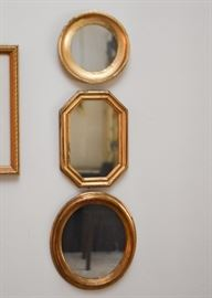 Small Gold Framed Wall / Accent Mirrors