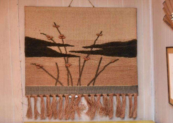 Vintage Woven Wall Hanging