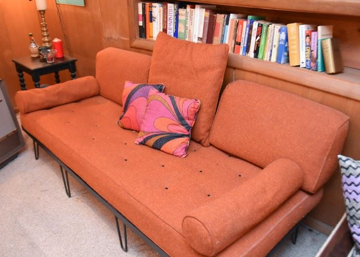 Vintage Daybed / Sofa with Iron Base