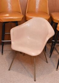 Mid Century Modern Herman Miller / Eames Shell Armchairs Chairs (2)