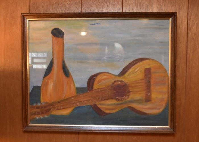 Still Life Guitar Artwork / Painting