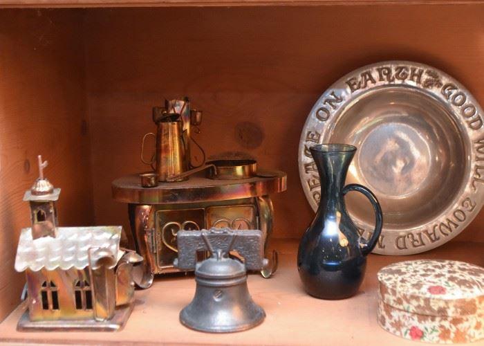 Copper Figurines, Liberty Bell Souvenir, Etc.
