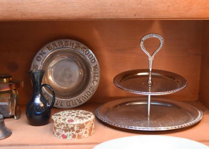 Pewter Bowl, Dessert Server, Coasters