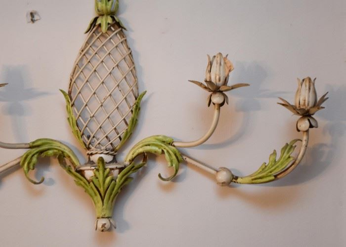 Vintage Metal Candle Wall Sconce