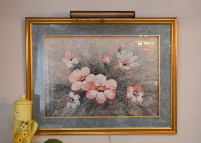 Framed Artwork (Floral)