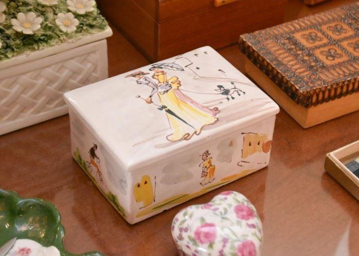 Ceramic Jewelry / Trinket Boxes