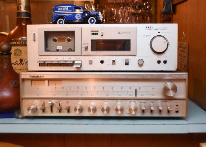 Quadraflex 878 Receiver & Akai Stereo Cassette Deck