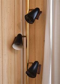 Mid Century Modern Pole / Floor Lamp with 3 Adjustable Lights