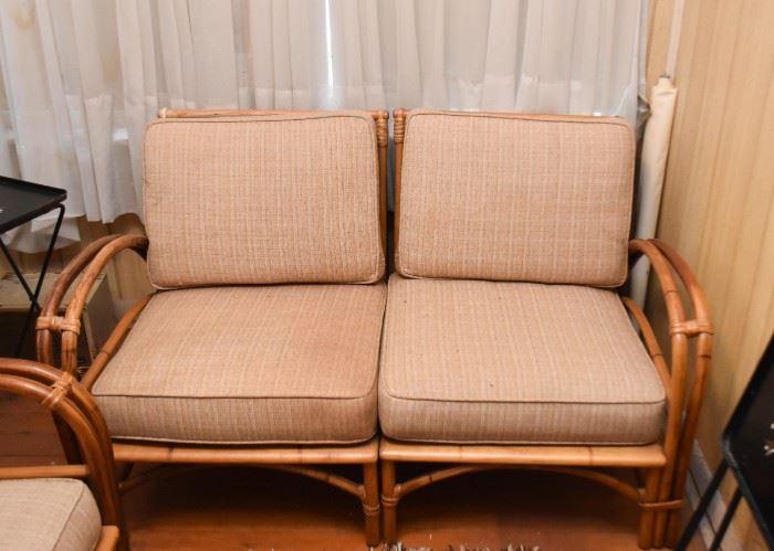 Rattan / Bamboo Love Seat
