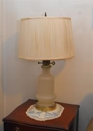 Vintage Frosted Glass Table Lamp