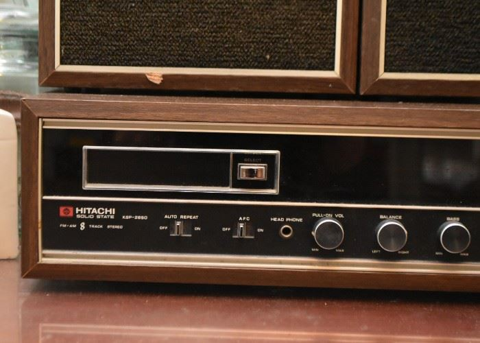 Vintage Hitachi Solid State 8 Track Player with AM / FM Stereo
