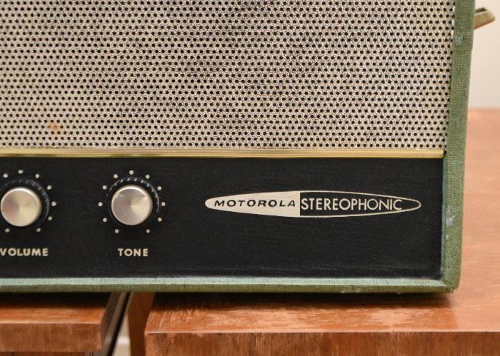 Vintage Motorola Stereophonic Portable Turntable