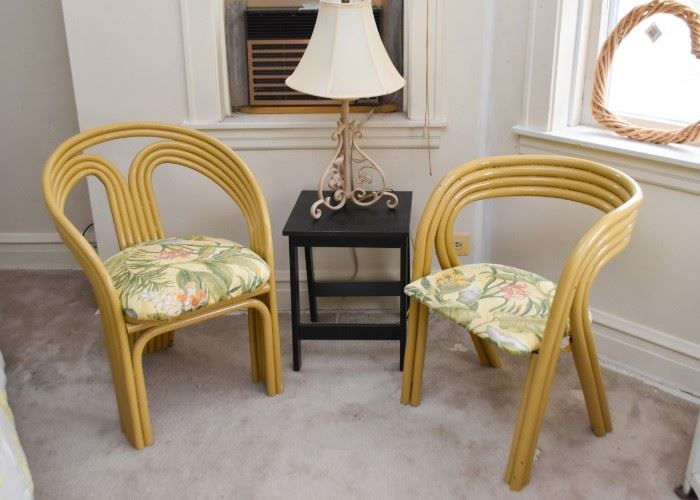 Vintage Side Chairs with Upholstered Seats