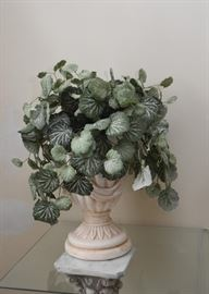 Ceramic Urn with Faux Plant