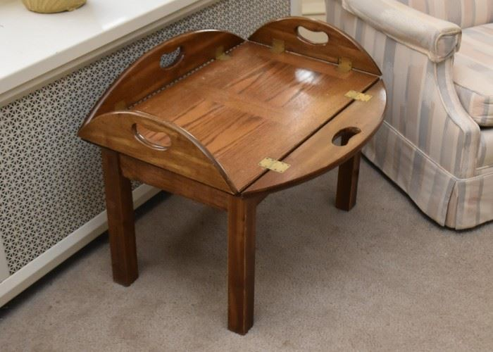 Vintage Oak Drop Leaf Coffee / Cocktail Table