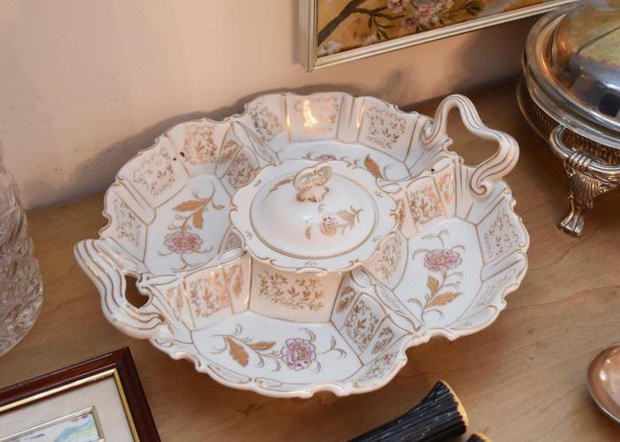 Vintage Porcelain Divided Server