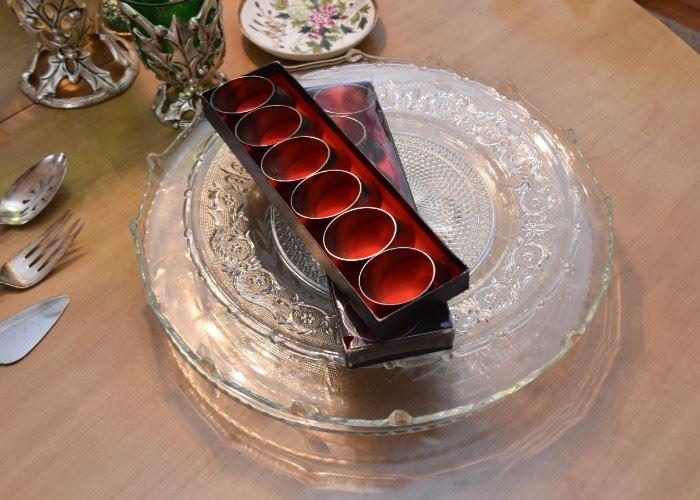 Glass Plates & Platters, Napkin Rings