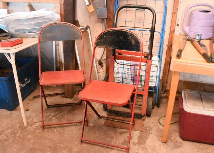 Metal Folding Chairs, Utility Dolly