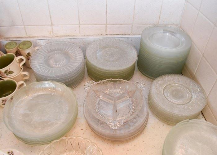 Glass Plates (Salad, Appetizer, Dessert Size)