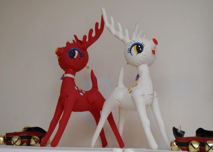 Vintage Blow-Up Reindeer
