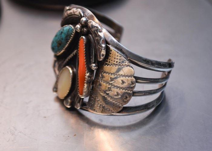 Large Native American Cuff Bracelet