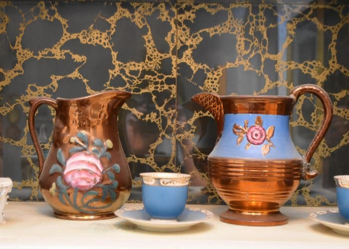 Vintage Ceramic Lustre Pitchers