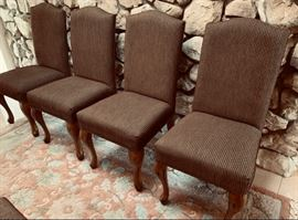 Set of six nice upholstered parson's chairs