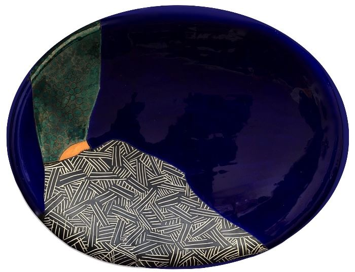 One of two rare 1990 platters by renowned Sarasota artist Scott Causey; secondary market prices get up to $900, but our price nowhere near that