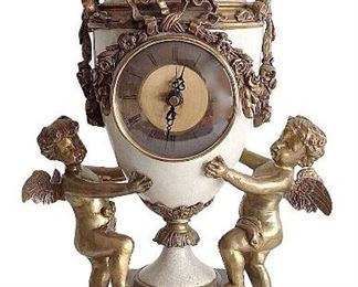 Mantle urn and clock by W.L. Wong reproductions