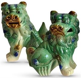 Pair of decorative modern foo dogs