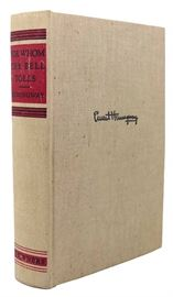 """First edition of Hemingway's """"For Whom the Bell Tolls"""" — no dust jacket"""