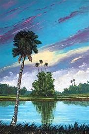 Original oil on canvas by Winter Haven artist Beatrice Elliott, 2006