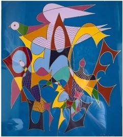"""Peace,"" c. 1950 by Chaim Gross; metal"