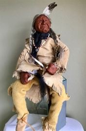 Osage Indian doll from the Carolinas