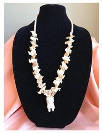 Native American bone necklace