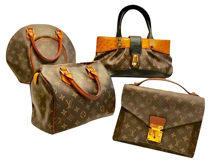 Assortment of bags.  We cannot vouch for the authenticity of all of them.