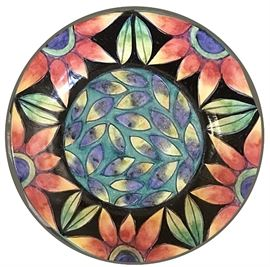 Plate by Pat Espey, Seattle artist whose works reference nature; we have several Espey pieces