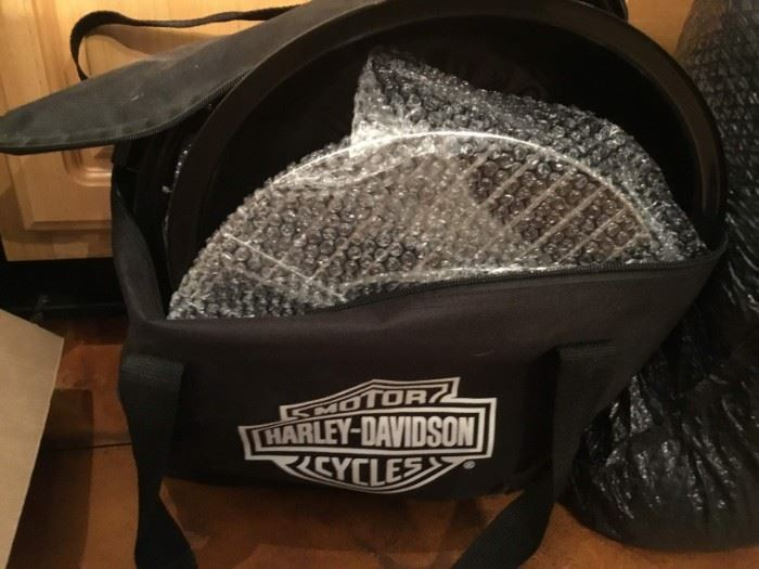 Harley Davidson portable grill in carrying case
