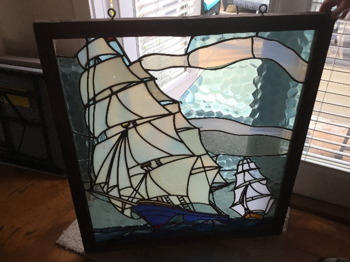 """Stained glass 37""""H x 34""""W"""
