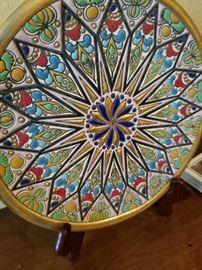 Colorful vintage plate