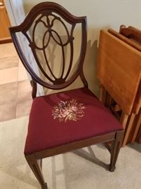 Several Duncan dining room chairs