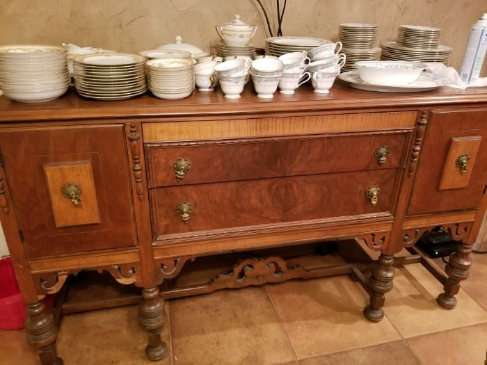 Great antique storage piece for kitchen or dining room