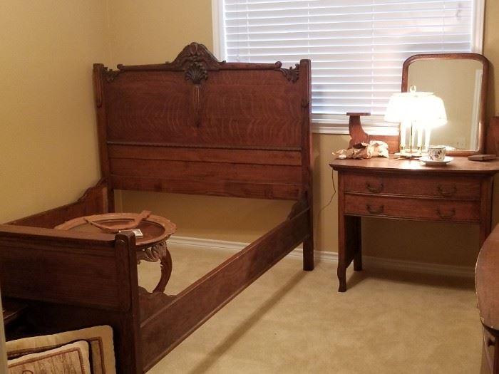 Stunning antique bed frame
