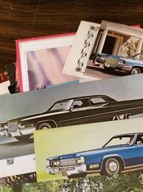 Super cool car postcards