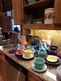 Vintage Fiesta ware in burst of colors