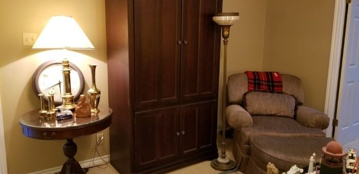 GreatvTV armoire and drum table
